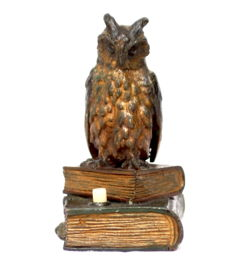 Owl on books. Viennese bronze Service Bell