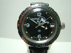 Vostok Amphibian Russian  military scuba dude diver's watch from the 1990s