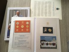 Vatican – Year pack and coin card 2016 Francesco (2 items) in album