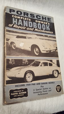 Original 1960 early Floyd Clymer Owner's Handbook for Porsche cars.
