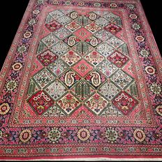 VERY SPECIAL: Beautiful, tile, Qum Persian rug of wool - 147 x 104 - unique opportunity - with certificate