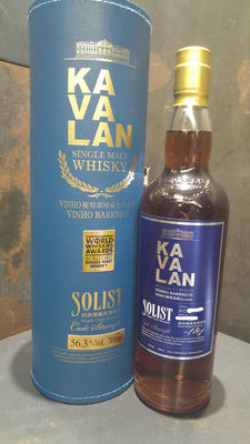 Kavalan Solist Vinho Barrique Single Cask Single Malt Whisky Cask Strength 56.3%