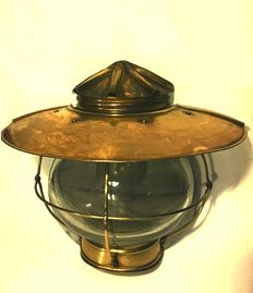 Nautical brass lamp from 1930.