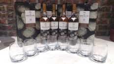 Macallan 12 Sherry New Year 2017 Limited Edition Gift Set x 4 with 8 glasses