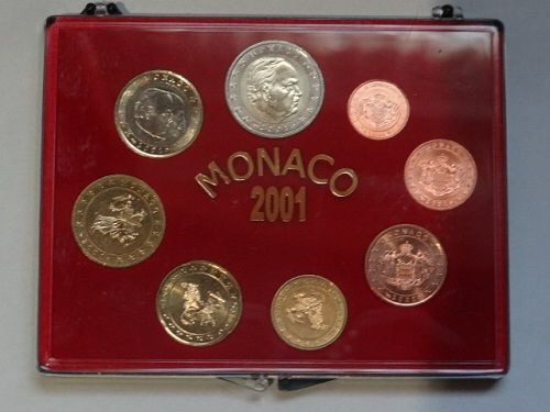 Monaco - 1 Cent up to and including 2 Euro 2001 Rainier III (8 pieces) in set