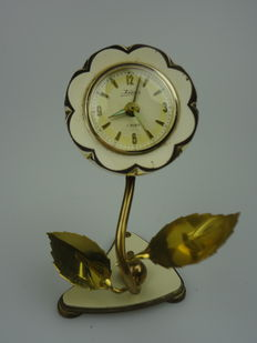 Travel alarm clock Kaiser – 2 rubies – Germany – 1950s/60s