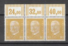 German Empire/Reich 1930 - Stamps president of the Reich Hindenburg in three rows from the upper edge Walze - Michel 437 WOR