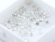 100 Round Brilliant Diamonds – 3.51 ct