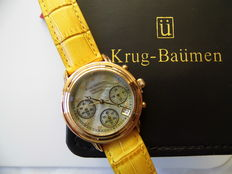 Krug Baümen Principle Diamond chronograph, women's wristwatch, never worn.