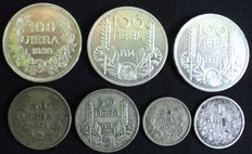 Bulgaria - 1 Lev up to and including 100 Leva 1913/1937 (7 coins) - Silver