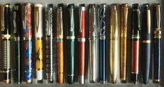 Fifteen (15) exclusive Fountain Pens with different unique and beautiful designs