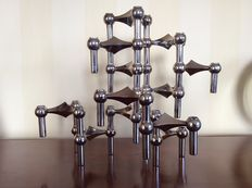 Ceasar Stoffi & Fritz Nagel for BMF – Nagel candlesticks, 12 pieces