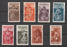 Saar area 1931/1934 – Volkshilfe 1934 cancelled/used as well as highest value from 1931 MNH – Michel 157, 171/177