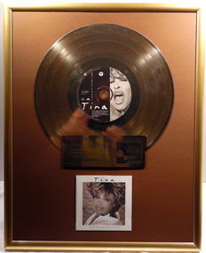 "Tina Turner - What's love got to do with it - 12"" german Parlophone gold plated record with CD and cover by WWA gold Awards"