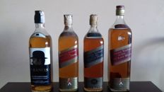 4 bottles - 2 Jjohnnie Walker Red Label & 1 Johnnie Walker Black Label & 1 Francis de luxe - old bottles