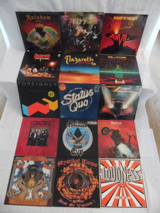 Nice Lot of 15 Albums - In Hardrock & Heavy Metal - In 17 Records - Rainbow - Kiss - Anvil - Nazereth ( 2 ) - Slade - Foreigner - Status Quo - ZZ Top - Meat Loaf -