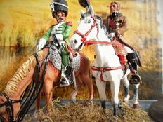 6 hand-painted models of figures from the Napoleonic period - DelPrado scale 1:30 and W. Britains scale 1:32.