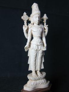Statue in ivory by Vishnu - Southern India - approx. 1920