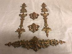 Five beautifully decorated large bronze ornaments-France-style Empire-the end of the 19th century