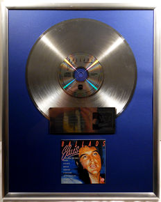 """Elvis Presley - Elvis Ballads - 12"""" german Telestar platinum plated record with CD and cover by WWA gold Awards"""