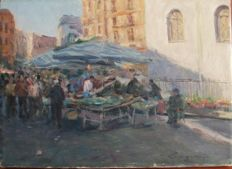 Unknown - Market with figures