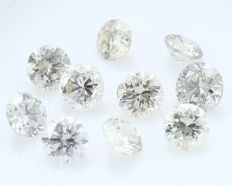 10 Round Brilliant Diamonds – 0.36 ct