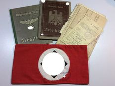 Armband, Work Book, Service Book - WW2