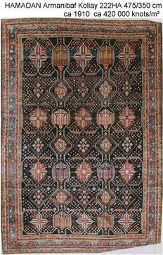 Antique rare Hamadan carpet from circa 1910