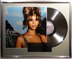 "Beyonce - B Day - 12"" german platinum plated record with cover by WWA Awards"