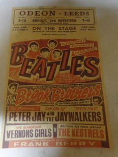The Beatles Old Concertposter Odeon Leeds on Sunday 3rd November 1963