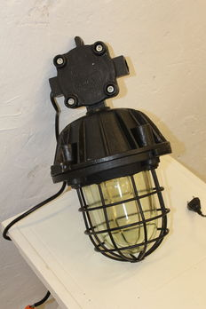 "Large ""Bully"" cage lamp - industrial / factory light"