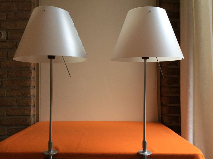 Paolo Rizzatto For Luceplan Italy Set Of 2 Table Lamps Costanza