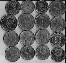 Portugal - 126 diverse coins - 1883 to 2000 - Lisbon