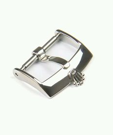 Original Rolex buckle in 18mm stainless steel. Made in Switzerland.