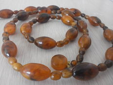 Old Baltic Amber Necklace and Bracelet