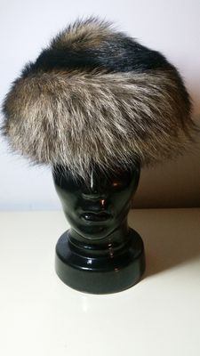 Designer genuine fur - marmot fur - balloon cap