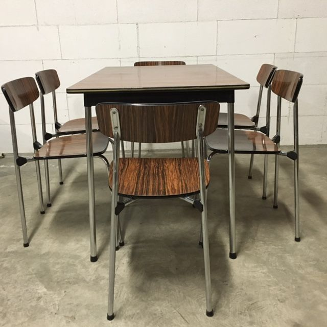 Kitchen Table With 6 Chairs: Vintage Kitchen Table With 6 Chairs