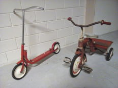 Children's bike and scooter - 1960's/1970's