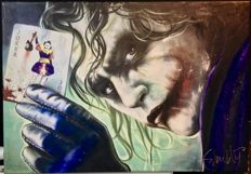 The Dark Knight - The Joker/ Heath Ledger - Giclee print with painting technique - measurements 100x70cm - Artist Stephan Evenblij