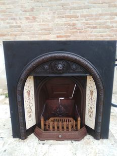 Beautiful cast iron fireplace - France, early 20th C