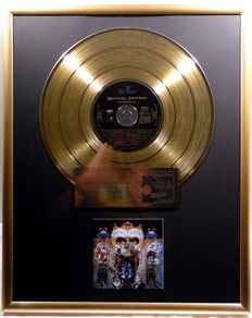 "Michael Jackson - Dangerous - 12"" german Epic gold plated record with CD and cover by WWA gold Awards"