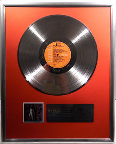 """Elvis Presley - TV Special - 12"""" GermanRCA Record platinum plated record by WWA Awards"""