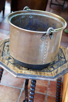 Large riveted copper cooking pot-Holland-19th century