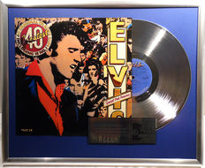 """Elvis Presley - 40 Greatest - 12"""" german RCA platinum plated record with cover by WWA Awards"""