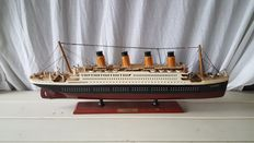 RMS Titanic - hand made wooden model