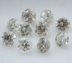 10 Round Brilliant Mix Color Diamonds – 0.47 ct