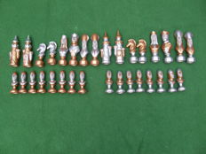 Very large Duncan chess pieces (17 cm high!)