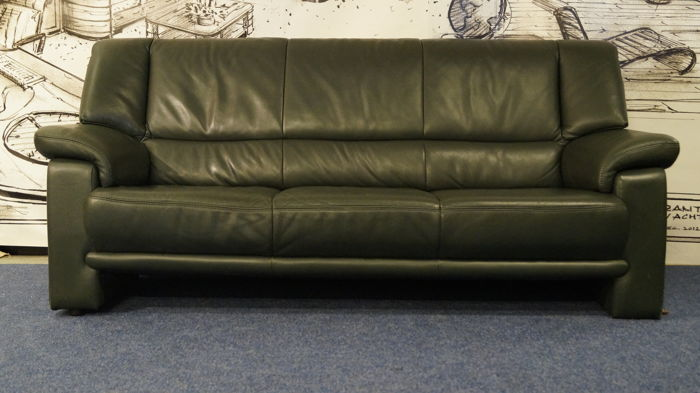 Sofa in supple Italian leather