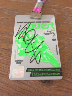 Authentic signed Valentino Rossi Pass Paddock