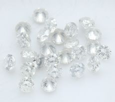 25 Round Brilliant Diamonds – 1 ct